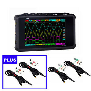 Handheld Digital Mini Oscilloscope Dso213 4 Probes Nano Portable Pocketsized