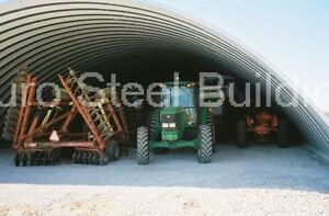 Durospan Steel 42x60x15 Metal Quonset Shed Ag Barn Building Kit Open Ends Direct