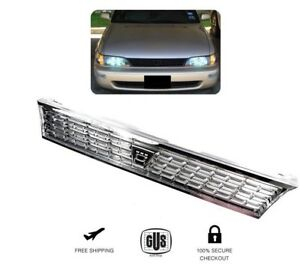 For 93 97 Toyota Corolla Grille Ae101 Jdm Chrome Grill Whit Logo 1993 1997