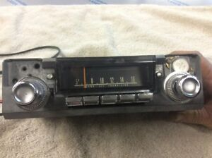 1967 Dodge Mopar Charger Radio Model 262 With Knobs And Connectors