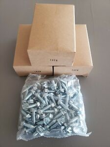 300 Lot License Plate Screws Slotted Hex Head Self Tapping Car Dealer Fasteners