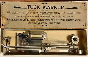 Antique Wilcox And Gibbs Automatic Sewing Machine Tuck Marker