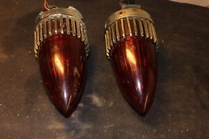 59 Cadillac Red Led Rear Tail Brake Light Lamp Lens Original As Is