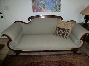 Mid 1800 S Antique Sofa American Empire From Tennessee Excellent