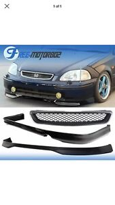 Ikon 96 98 Honda Civic 2 4dr Pp Front Rear Bumper Lip Hood Grille New