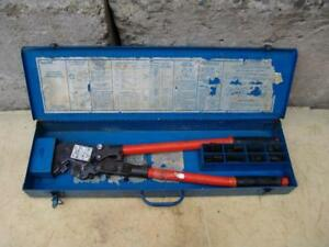 T b Thomas Betts Tbm8s Wire Cable Crimper With Many Dies Works Fine 4