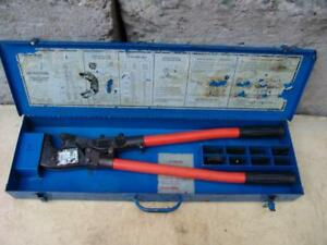 T b Thomas Betts Tbm8s Wire Cable Crimper With Many Dies Works Fine 2