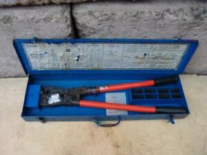 T b Thomas Betts Tbm8s Wire Cable Crimper With Many Dies Works Fine 1