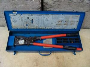 T b Thomas Betts Tbm8s Wire Cable Crimper With Many Dies Works Fine 3