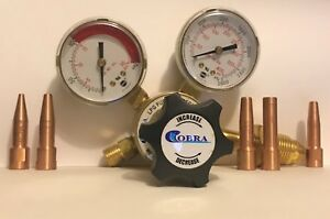 Lpg Fuel Gas Regulator And 5 Copper Tips For Cobra Torches Dhc 2000 Henrob
