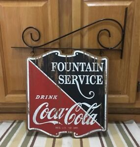 Fountain Service Drink Coca Cola Double Sided Bracket Coke Soda Gas Station