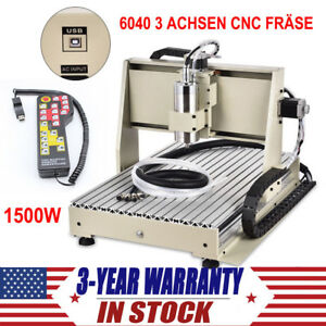 3 Axis Cnc 6040 Router Engraver Kit Usb Engraving Milling Machine Controller