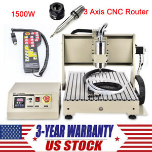 3 Axis Cnc Router Engraver 1500w Usb 3d Engraving Machine Handwheel Controller
