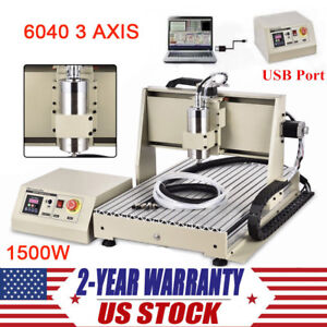 3 Axis Cnc 6040 Router Engraver Usb Wood Pcb Carving Engraving Machine Ballscrew