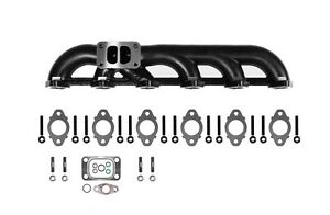 5 9l Upgraded High Flow Ceramic Coated Exhaust Manifold 03 07 Dodge Ram Cummins