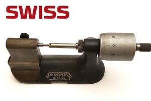 Bench Micrometer Fab Suisse Tavannes Machines Co S a Swiss Bienne Watchmakers
