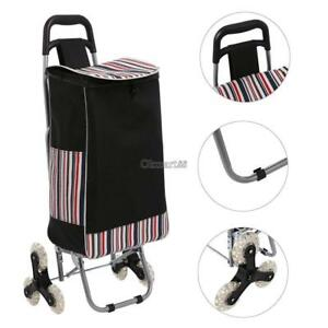 Stair Climb Rolling Folding Shopping Trolley Cart For Grocery Laundry Okm8