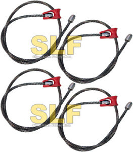 Qty 4 Usa Built 7 Long 1 2 Cable Knob Choker Cables Cable Logging Skidder New