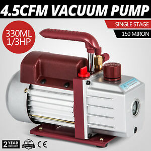 4 5cfm Single stage Rotary Vacuum Pump Milking Medical 1 4 flare Inlet 110v 60hz