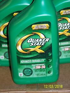 Lot Of 5 New Quarts Quaker State Automotive Engine Oil 5w 30 Local Pickup Only