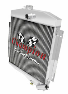 3 Row Ace Champion Radiator For 1965 1971 Jeep Cj5 Buick V6 Engine