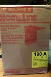 Homeline 100 Amp 6 space 12 circuit Outdoor Main Lugs Load Center Square D