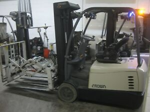 2013 Crown Sc5245 40 Electric Forklift W Cascade Push Pull Attachment Installed