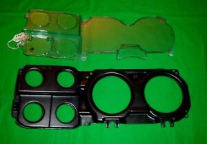 73 87 Chevy Truck Gm Oem Gauge Cluster Clear Lens With Clock Black Bezel 81 87