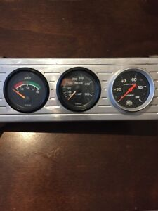 Vdo Autometer Gauge Pod Cluster Oil Water Temp Oil Pressure Muscle Car Hot Rod