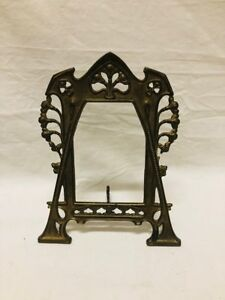 Antique Bronze Brass Art Nouveau Picture Frame 1800s Aesthetic Period