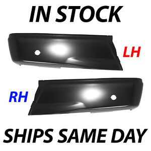 New Primered Steel Left Right Rear Bumper Ends For 2015 2018 Ford F150 W Park