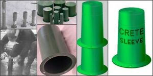 Crete Sleeve 6 Plastic Hole Forms Pipe Sleeve Concrete Wall Block Out Sleeve
