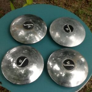 Set Of Four 16 1939 1940 Cadillac Lasalle Hubcaps Wheel Covers