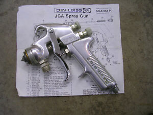 Vintage Devilbiss Pressure Feed Paint Jga Spray Gun 2 Quart Pot Kit Usa