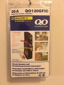 Square D qo120gfic 20 Amp Ground Fault Circuit Interrupter