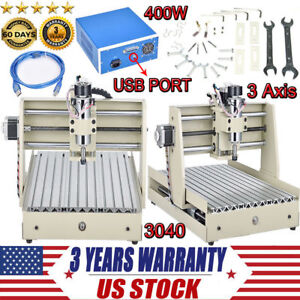 3 Axis 3040 Usb Cnc Router Engraver 3d Cuttrer Wood Carving Engraving Machine Us
