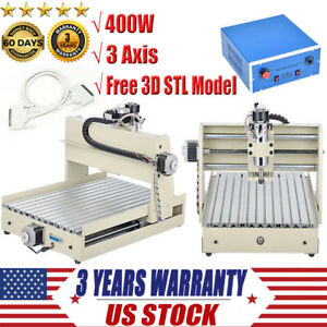 3 Axis Cnc 3040 Router Engraver 400w Desktop Engraving Drilling Milling Machine