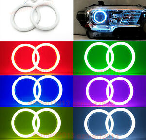 Rf Cotton Rgb Led Halo Rings For Toyota Tacoma 16 19 Car Headlight Angel Eye Drl