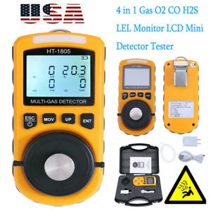 4in1 Multigas Detector Tester O2 Lel H2s Co Gas Analyzer Harmful Density Monitor