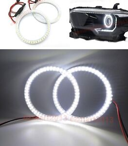 Led Lights Halo Rings For Toyota Tacoma 2016 2019 Car Headlight Angel Eyes Drl