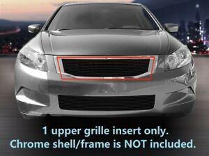 Black Billet Grille Upper Grill For 2008 2010 Honda Accord Sedan
