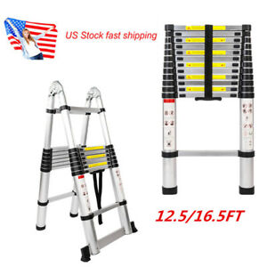 Us 12 5 16 5ft Hone Multi Purpose Folding Aluminum Telescopic Ladder Extension