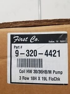 First Company Hot Water Coil With Pump 9 320 4421