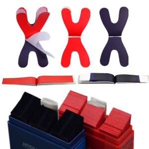 Dental Articulating Paper Horseshoe Rectangle Thick Strips Blue red For Denture