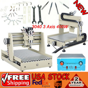 3 Axis Cnc Router Engraver Vfd 400w 3d Desktop Drilling Milling Machine 3040t