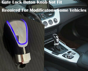 Touch Activated Sensor Led Gear Shift Knob Blue With Usb Charger K1