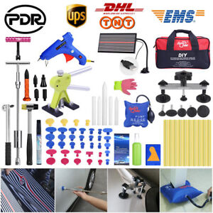 Pdr Tools Dent Puller Paintless Hail Removal Led Light Car Body Dent Repair Set