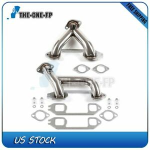 For 37 62 Chevy 6cyl 216 235 261 Stainless Steel Racing Header Manifold Exhaust