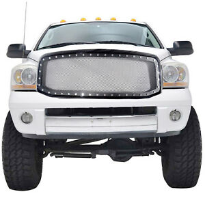 1pc For 06 08 Dodge Ram 1500 2500 3500 Front Hood Bumper Mesh Style Abs Grille