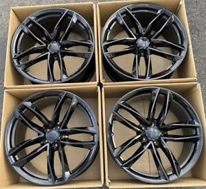 20 Audi A7 S7 Gloss Black Wheels Rims Factory Oem Set Of 4 58981